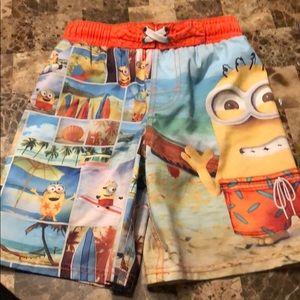 Boys minion swim trunks
